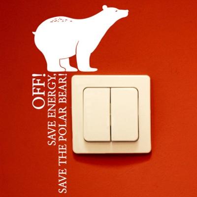 북극곰 (멸종동물 스위치스티커) 그래픽스티커