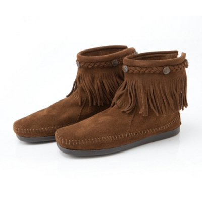 Hi Top Back Zip Boot / 293 Dusty Brown
