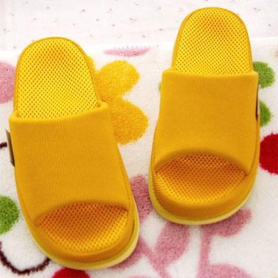 건강용 refre 지압 슬리퍼 여성용 옐로우(피로가 많은분에게)