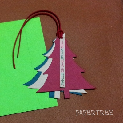 tag card CHRISTMAS TREE