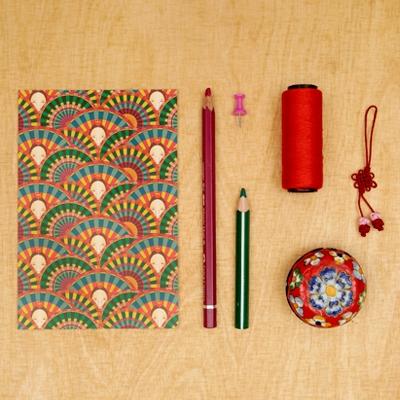 패턴엽서 - 부채춤 (녹색)