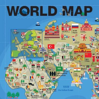GO! GLOBAL 포스터 시리즈 'World Map'