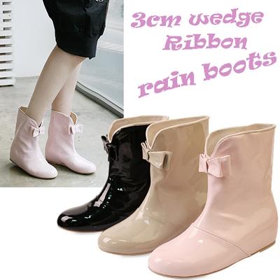 Enamel ribbon rain boots_KM11s273