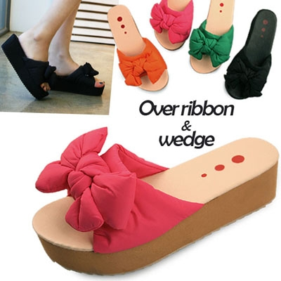 단독제작 Over ribbon wedge slipper_KM12s165