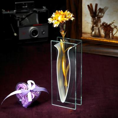 24K 금카네이션 선물세트 (V꽃병 & 비누꽃 &선물상자)