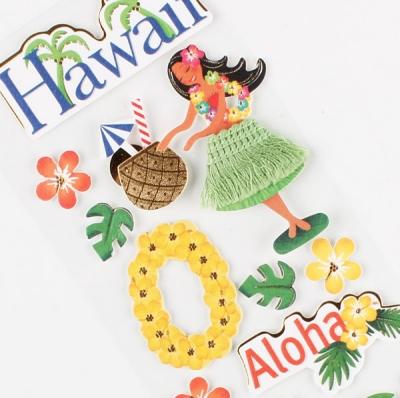 나라별스티커(하와이) / 018-ss-0019