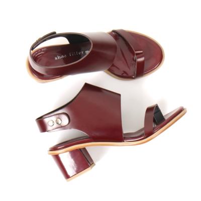 wine leather sandle