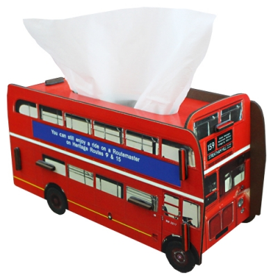 Tissue box-double decker bus