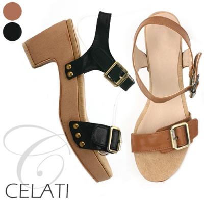 [CELATI] Dandy Strap Sandal Heel 0061