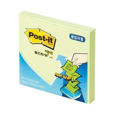 3M 포스트잇 팝업노트 리필(KR330/애플민트)