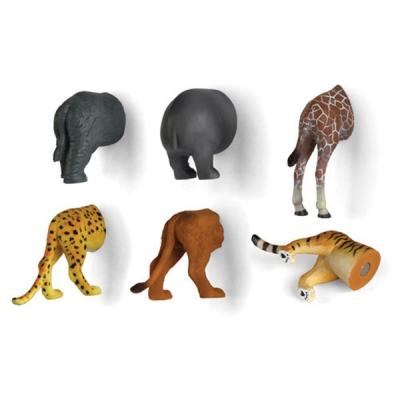 Animal Butt Magnets 6 Set