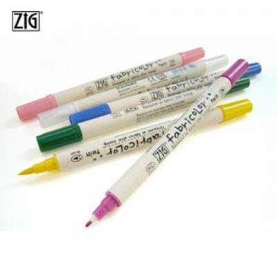 ZIG 지그 Fabricolor 직물마카 트윈팁 ZIG-TC-4000