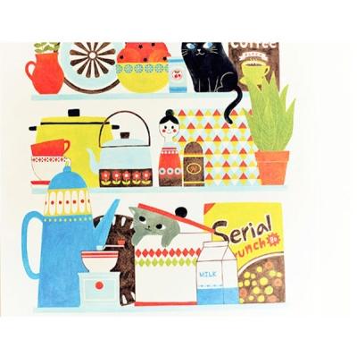 Lovely Kitchen Shelf 포스터
