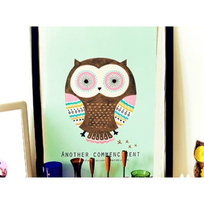 Mint Owl poster