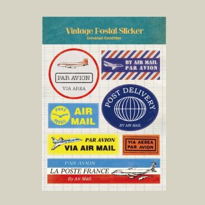 Vintage Postal Sticker