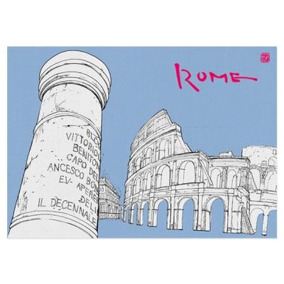 봄날프로젝트_여행일러스트 엽서 '로마'