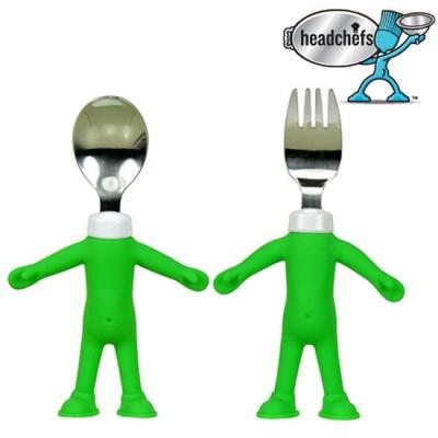 Headchefs(미국) 실리콘 키즈 스푼+포크 2종 세트