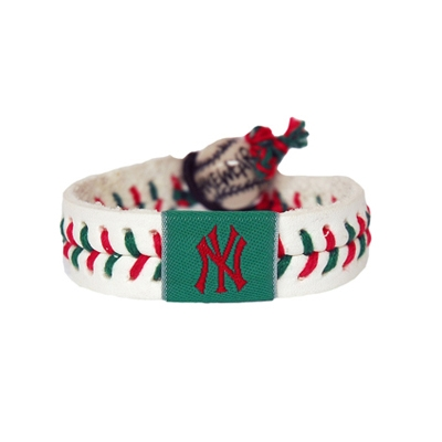 New York Yankees Holiday Baseball Bracelet
