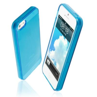 아이폰5 애플로고가 돋보이는고투명 TPU재질 그립감개선 MILD케이스