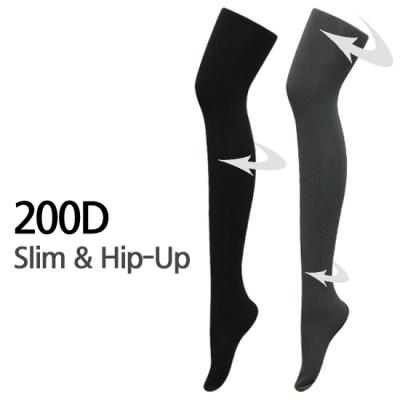 200D 슬림앤힙업 기능성 착압스타킹 *입체설계,각선미개선,보온*