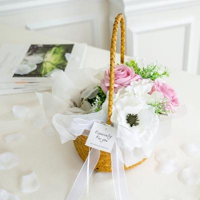 아이럽 화동바구니+꽃잎set