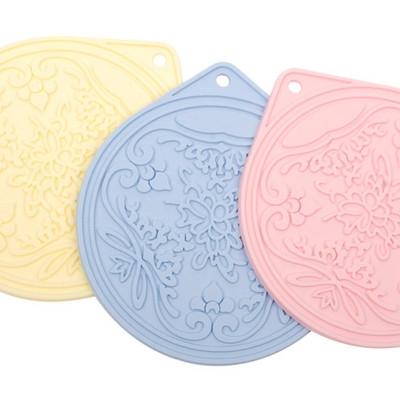 실리콘조리도구 냄비받침-꽃무늬   TIS228