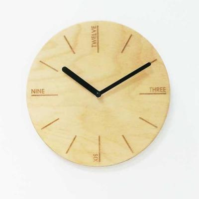 PLY자작나무벽시계-NO.08(무소음)