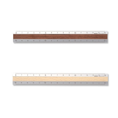 Aluminium & Wood Ruler