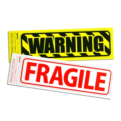 WARNING-FRAGILE 스티커