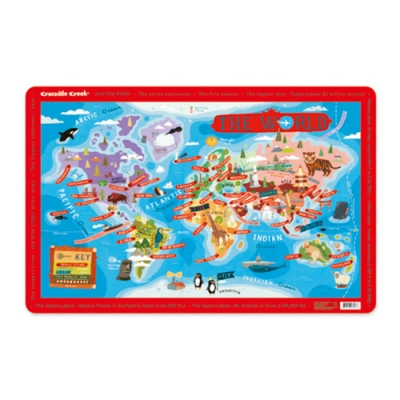 World Cities Map Placemat