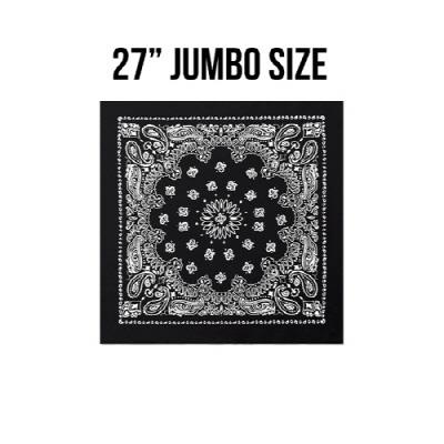 [rothco] 27inch jumbo trainmen bandana black