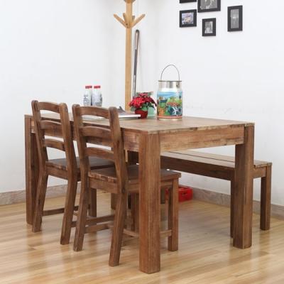 모노 빈티지 원목 테이블 세트(아카시아)