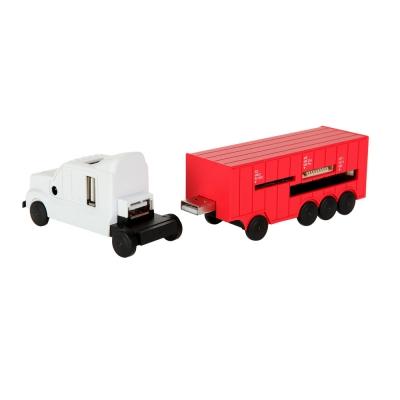 스파이어 SP-480T 트럭 모양 USB허브+멀티카드리더기 콤보