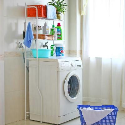 화이트 세탁기 선반/선반형 의류행거