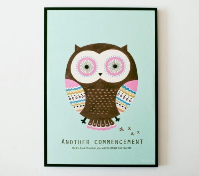 Mint Owl poster (A3액자포함)