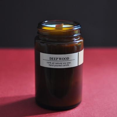 Brown candle-DEEP WOOD