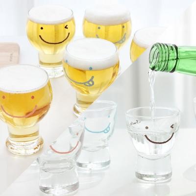 스마일 와글와글 맥주컵 6P+ 소주잔 6P