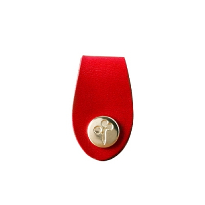 Red_Mini Leather Tie