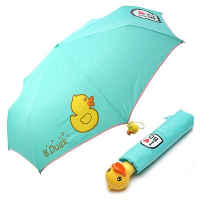 [B.DUCK] 비덕 3단 수동 우산(양산겸용) _ 에매랄드그린