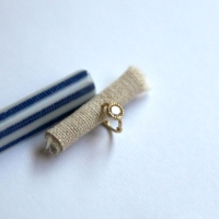 10k gold cubic circle ring earring