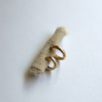 10k gold simple ring earring