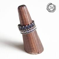 클래시컬 블루 4타입 반지 classical blue ring 4set(4types)