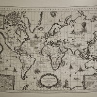 Map of the world - Big antique illust cut (��������)