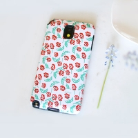 [duboo] Small Flowers Red Galaxy Note3 Case