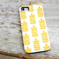 [duboo] Stamp Leaf Yellow iPhone 5/5s Case