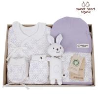 [출산선물]오가닉 라인꽃 신생아 선물세트