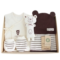[출산선물]오가닉 브라운곰 신생아 선물세트