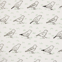 Queuing Birds Cotton Pattern