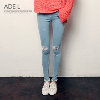 lit knee denim skinny / ��Ʈ �� ���� ��Ű��_(489027)
