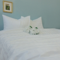 ȭ��Ʈ ��Ʈ������ ȣ��ħ��(White Stripe Bedding)